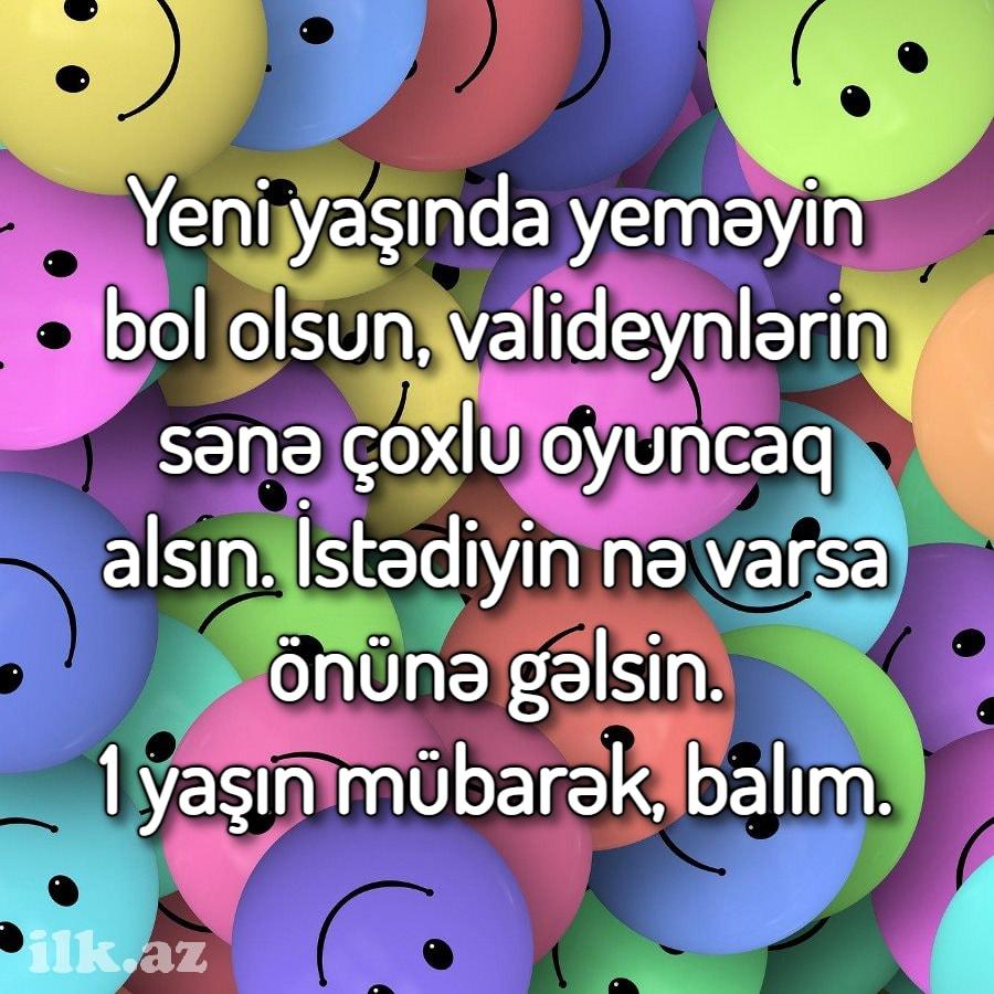 1 Yas Dogum Gunu Təbrikləri Ilk Az
