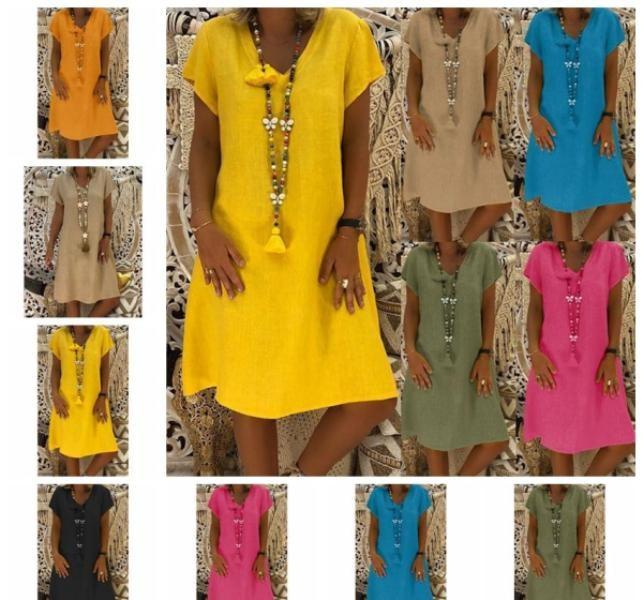 canlı renklerde elbise